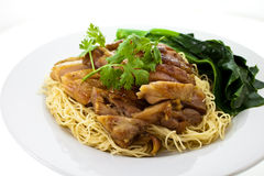 Egg Noodle with Chicken Royalty Free Stock Photos