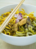 Egg noodle with chicken curry Stock Photography