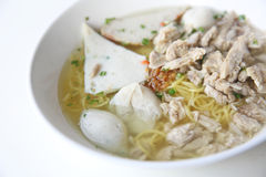 Egg noodle with fishball Royalty Free Stock Images