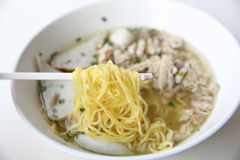 Egg noodle with fishball Royalty Free Stock Photos