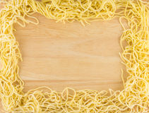 Egg Noodle Frame Royalty Free Stock Image