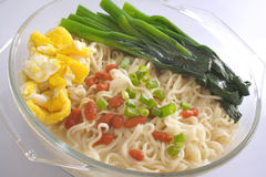 Egg Noodle in Glass Container Royalty Free Stock Photos