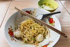Egg noodle with pork Stock Photos