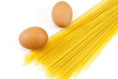 Egg noodles Royalty Free Stock Photos