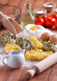 Egg noodles Stock Photo