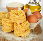 Egg noodles Royalty Free Stock Image