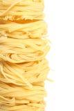 Egg noodles Stock Photos