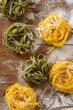 Egg noodles on the table Royalty Free Stock Images