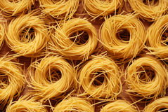 Egg noodles on the table Royalty Free Stock Photos