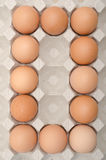 Egg number zero Royalty Free Stock Image