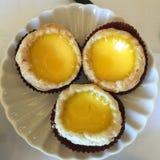 Egg o vinho vermelho de tarts Imagem de Stock Royalty Free