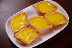 Egg o vinho vermelho de tarts Imagens de Stock Royalty Free