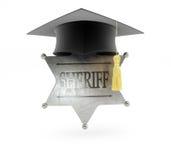 Egg o xerife em uma ilustração branca do fundo 3D Imagem de Stock Royalty Free