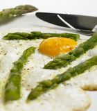Egg omelet. With green aspargus Stock Image