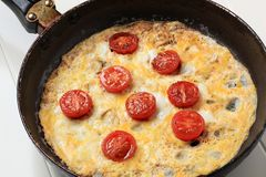 Egg omelet Royalty Free Stock Photos