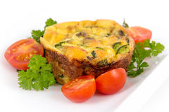 Egg omelet muffin cup dinner Royalty Free Stock Photos