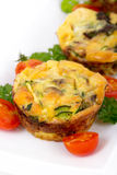 Egg omelet muffin cup dinner Stock Photo