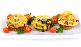 Egg omelet muffin cup dinner Stock Photography