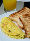 Egg omelet with toast Stock Photography