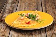 Egg omelet Stock Photos