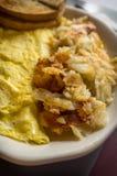 Egg Omelette Home Fries Stock Image
