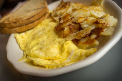 Egg Omelette Home Fries Royalty Free Stock Photography