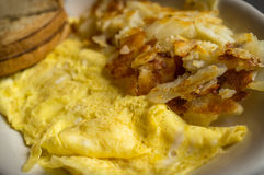 Egg Omelette Home Fries Royalty Free Stock Images