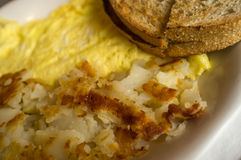 Egg Omelette Home Fries Royalty Free Stock Photos