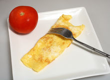 Egg Omlet tomato diet lunch Royalty Free Stock Photos