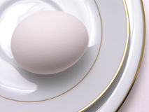 Egg On Fine China 1 Stock Photo