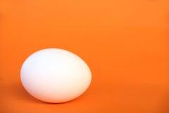 Egg on orange surface 2. An egg placede on orange surface Stock Photography