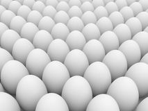 Egg over white background Royalty Free Stock Photography