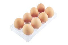 Egg pack on isolated white background Royalty Free Stock Images