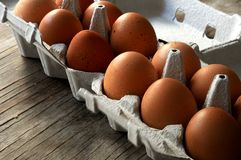 Egg package from organic farm Royalty Free Stock Photo