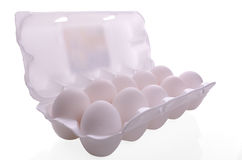 Egg packaging container Stock Image