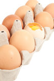 Egg in packing Stock Photo