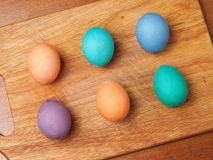 Egg. Painted easter egg colored group Stock Images