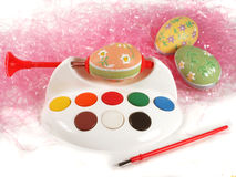 Egg painting Stock Images