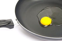 Egg on the pan. Royalty Free Stock Photography