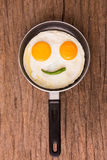 Egg on pan Royalty Free Stock Image