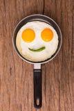 Egg on pan Royalty Free Stock Image