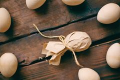 Egg in paper Royalty Free Stock Photos
