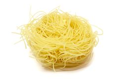 Egg pasta 1. Still life of egg pasta  on white background, with clipping path, shadow not included Stock Images