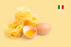 Egg and pasta Stock Photos