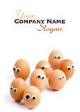 Egg people Stock Photography