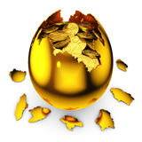 Egg with percent Royalty Free Stock Photography