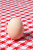 Egg on picnic tablecloth Stock Photography