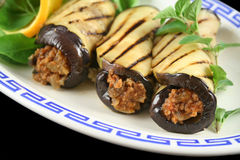 Egg Plant And Beef Rolls 2 Stock Image