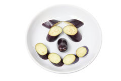 Egg Plant Pieces Royalty Free Stock Images