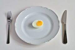 Egg on the plate. Place setting Stock Image